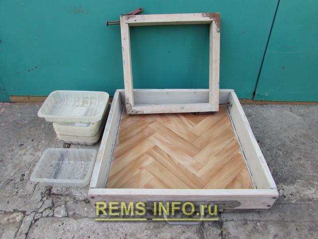 Варианты форм для отливки плитки из бетона.