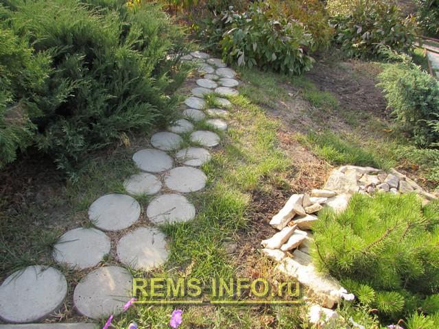 Фото садовой дорожки с малыми затратами.