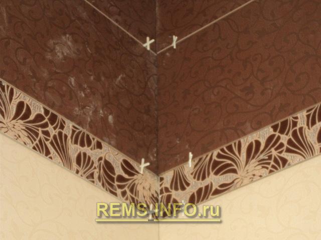 варианты установки крестиков между плиткой