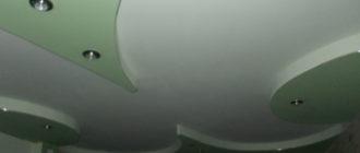 радиусные потолки из гипсокартона.