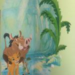роспись стен акриловой краской в детской комнате