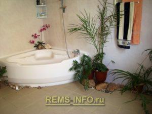 Интересный интерьер ванной05