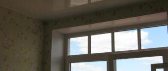 натяжной потолок глянцевый или матовый? на фото глянцевый.