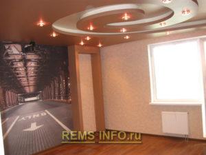Подвесные потолки из гипсокартона фото1