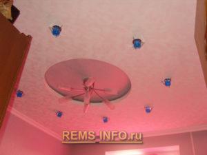 Подвесные потолки из гипсокартона фото6