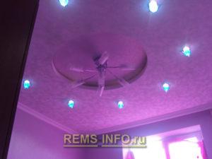 Подвесные потолки из гипсокартона фото7