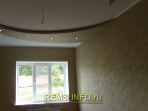 Подвесные потолки из гипсокартона фото15