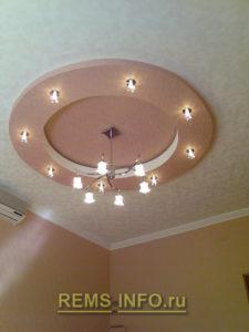 Подвесные потолки из гипсокартона фото18