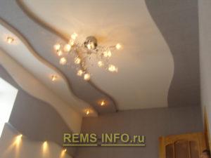 Подвесные потолки из гипсокартона фото26