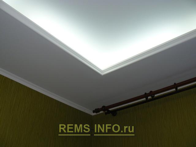 Подвесные потолки из гипсокартона фото30