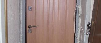 Установка входной металлической двери своими руками.