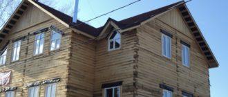 Внешняя отделка деревянного дома.