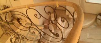 Поручни для лестниц деревянные.