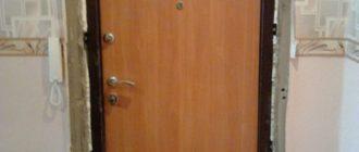 Установка входной двери в квартиру