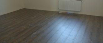 Укладка ламината на бетонный пол.