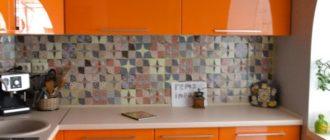 Оранжевая кухня фото.