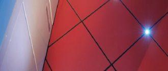 Светодиодная подсветка пола в ванной комнате.