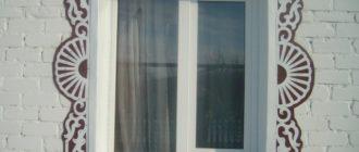 Резные наличники на окна.