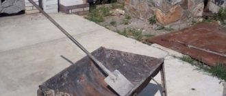 Приготовление бетона своими руками.