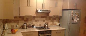Дизайн кухни цвета брызги шампанского - фото