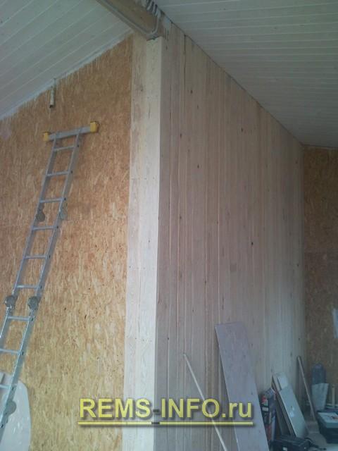 Монтаж досок на стену 2.