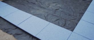 Устройство площадки из резиновых панелей